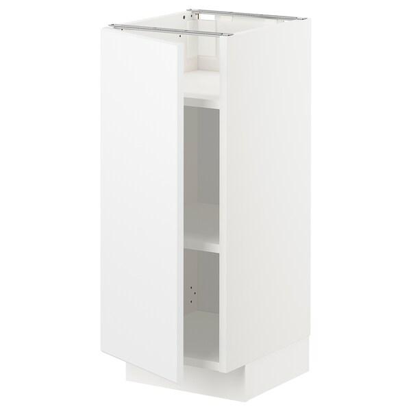 METOD Base cabinet with shelves, white/Kungsbacka matt white, 30x37x70 cm