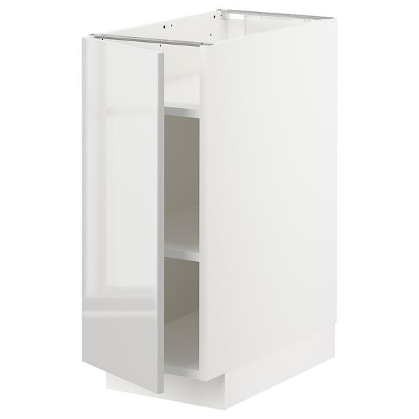 METOD Base cabinet with shelves, white/Ringhult light grey, 30x60x70 cm