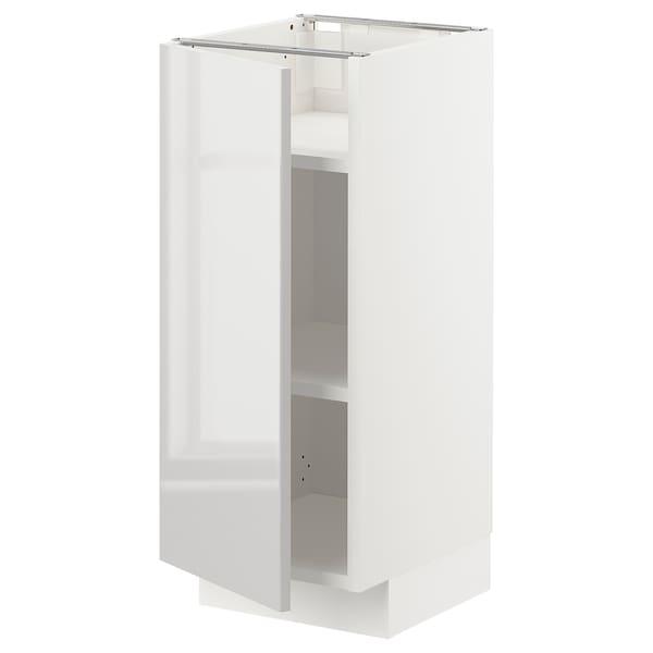 METOD Base cabinet with shelves, white/Ringhult light grey, 30x37x70 cm