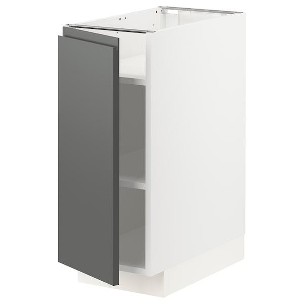 METOD Base cabinet with shelves, white/Voxtorp dark grey, 30x60x70 cm