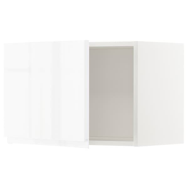 METOD Wall cabinet, white/Voxtorp high-gloss/white, 60x37x40 cm