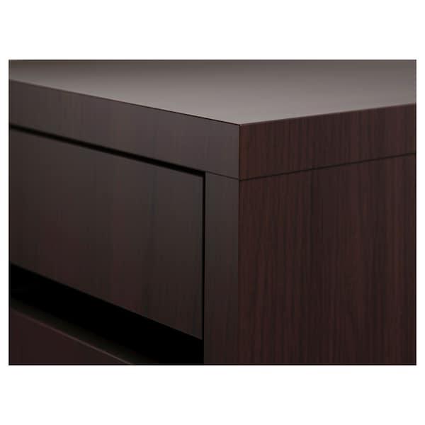 MICKE Drawer unit on castors, black-brown, 35x75 cm