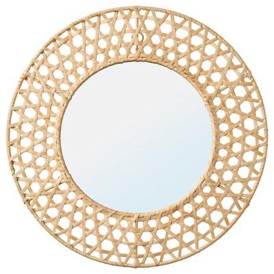 MISSVEDEN Mirror, rattan, 50 cm