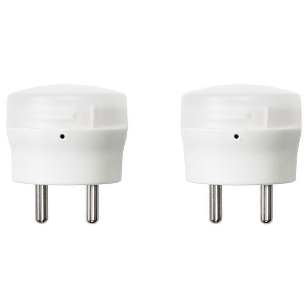 MÖRKRÄDD LED nightlight with sensor white 6 lm 45 mm 0.45 W 2 pack