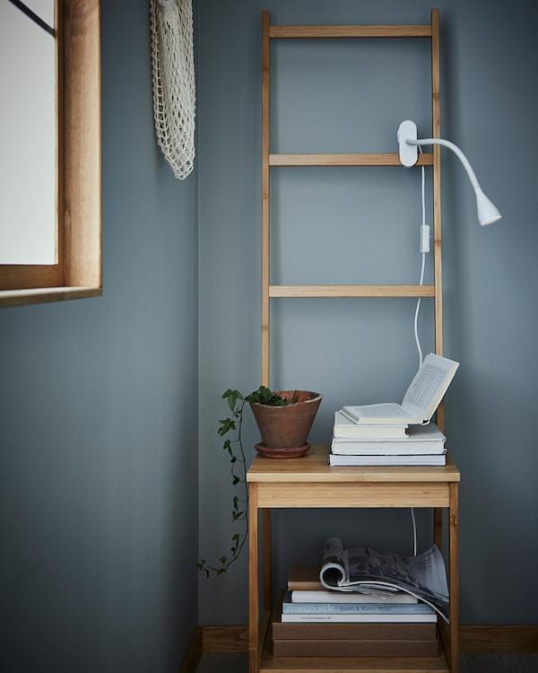 NÄVLINGE LED clamp spotlight, white
