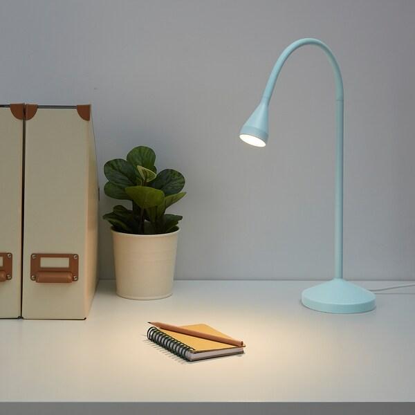 NÄVLINGE LED work lamp, light blue