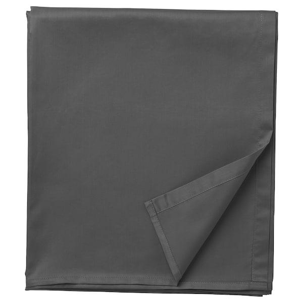 NATTJASMIN Sheet, dark grey, 240x260 cm