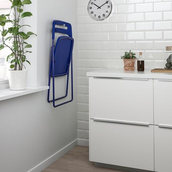 NISSE Folding chair, dark blue-lilac