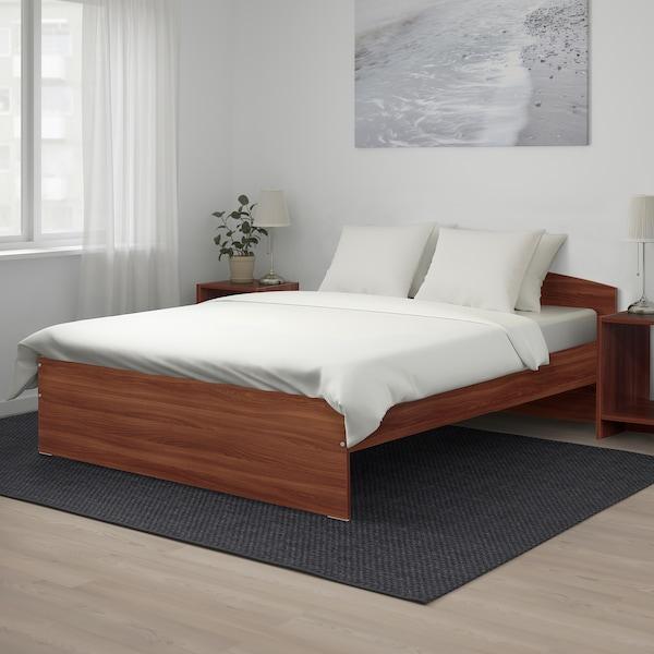 NODELAND Bed frame, medium brown/Luröy, 140x200 cm