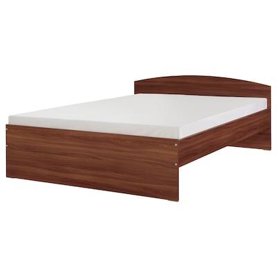 NODELAND Bed frame, medium brown/Luröy, 160x200 cm