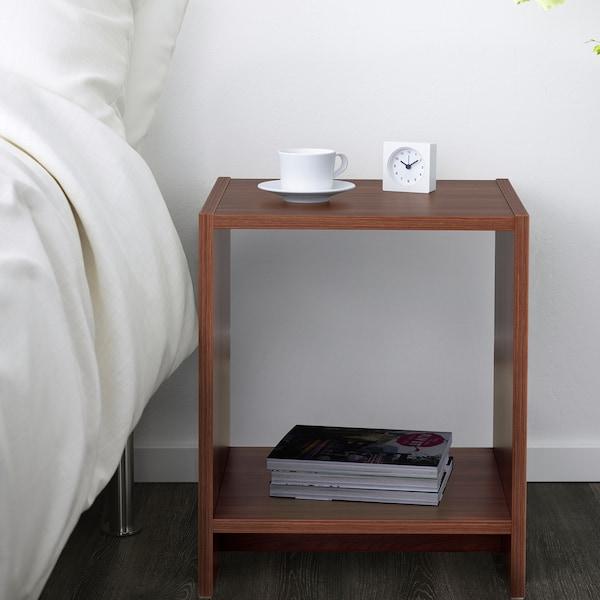 NODELAND Bedside table, medium brown, 37x39 cm