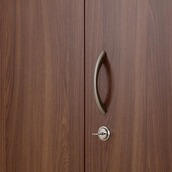NODELAND Wardrobe with 3 doors, medium brown, 120x52x202 cm