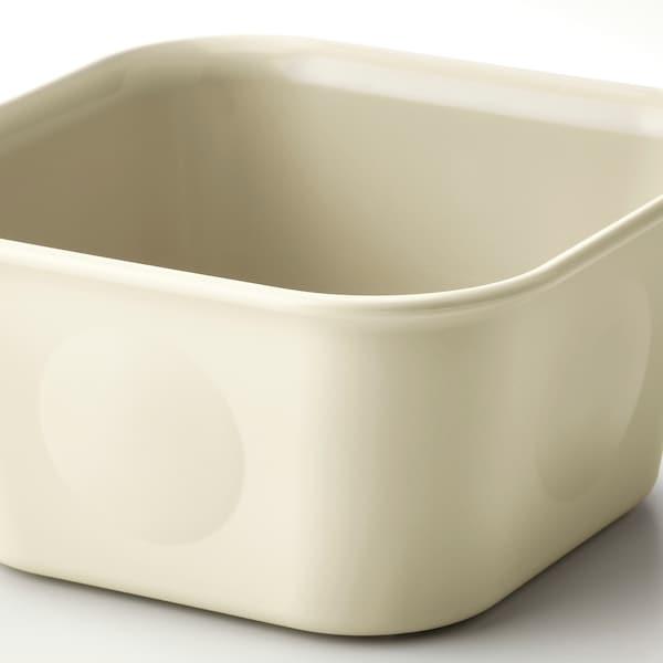 NOJIG Organiser, plastic/beige, 10x10x5 cm