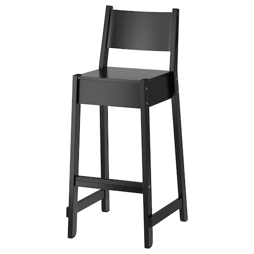 IKEA NORRÅKER Bar stool with backrest
