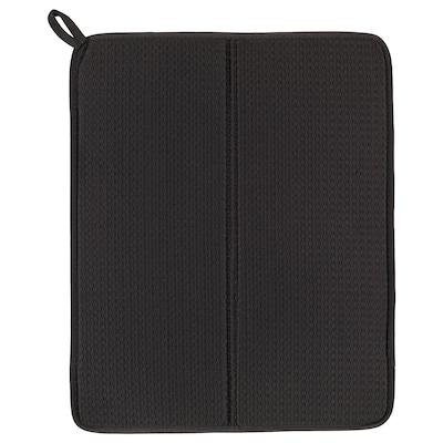NYSKÖLJD Dish drying mat, dark grey, 44x36 cm