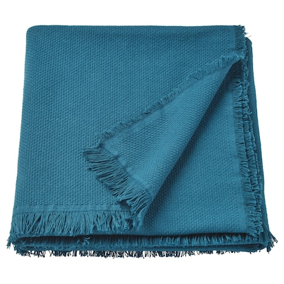 ODDRUN Throw, blue, 130x170 cm
