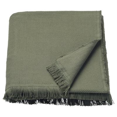 ODDRUN Throw, dark green, 130x170 cm