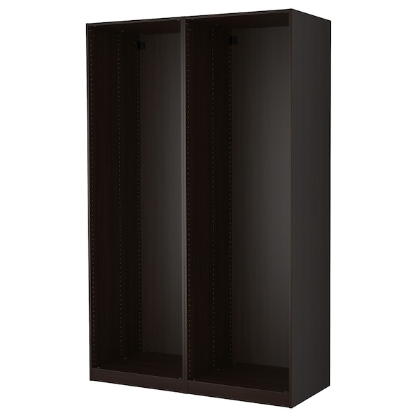 PAX 2 wardrobe frames, black-brown, 150x58x236 cm