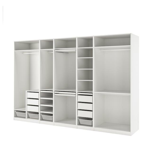 PAX Wardrobe combination, white, 375x58x236 cm