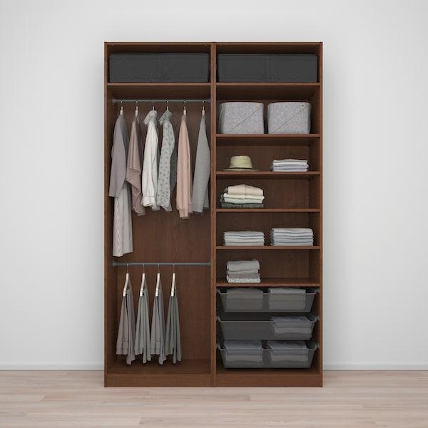 PAX Wardrobe, Hasvik/brown stained ash effect, 150x66x236 cm