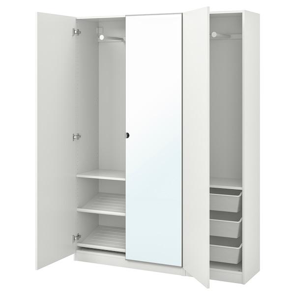 PAX Wardrobe, white/Forsand Vikedal, 150x38x201 cm