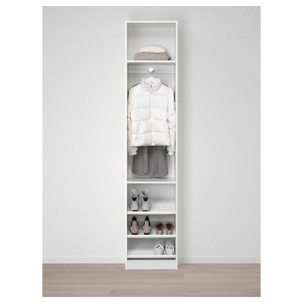 PAX Wardrobe, white/Forsand white, 50x38x236 cm