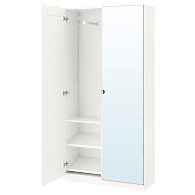 PAX Wardrobe, white/Grimo Vikedal, 100x38x201 cm