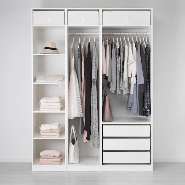 PAX Wardrobe, white, 175x58x236 cm
