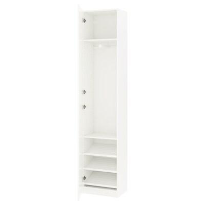 PAX wardrobe white/Forsand white 50.0 cm 38.0 cm 236.4 cm