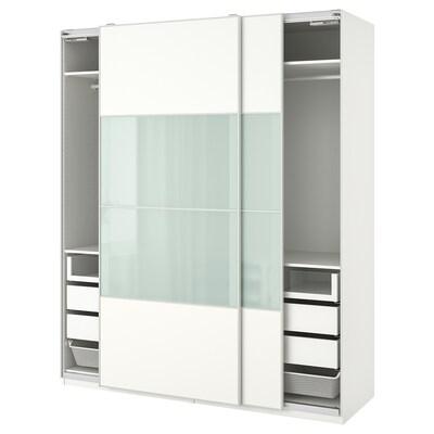 PAX wardrobe white/Mehamn Sekken 200.0 cm 66.0 cm 236.4 cm