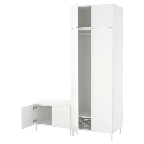 PLATSA Wardrobe, white/Fonnes white, 160x57x231 cm