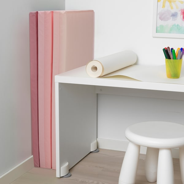 PLUFSIG folding gym mat pink 185 cm 78 cm 3.2 cm