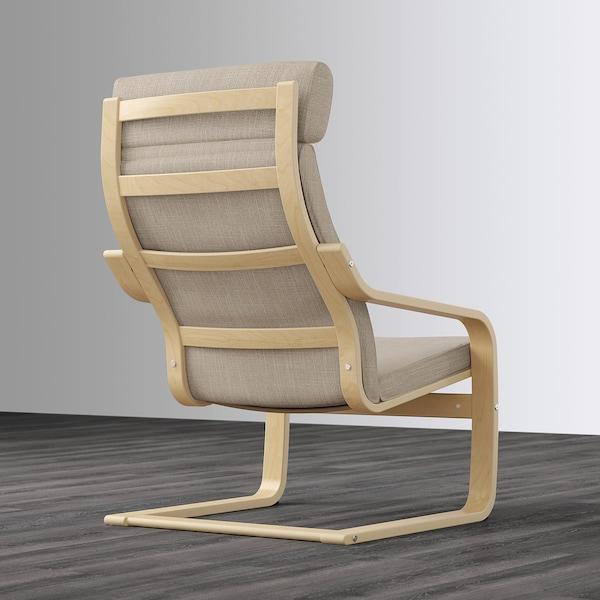 POÄNG Armchair, birch veneer/Hillared beige