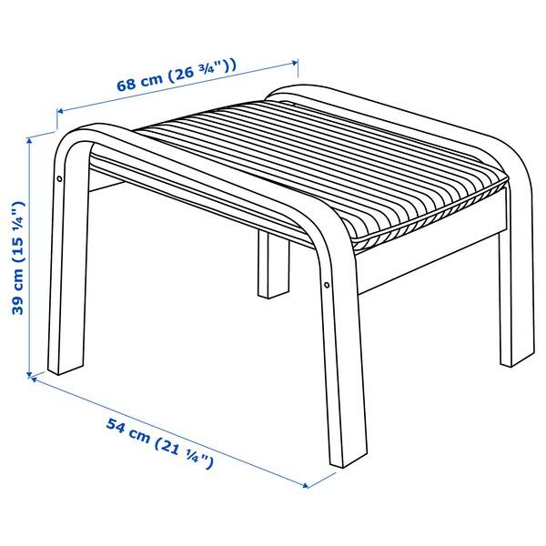 POÄNG Footstool, birch veneer/Hillared beige