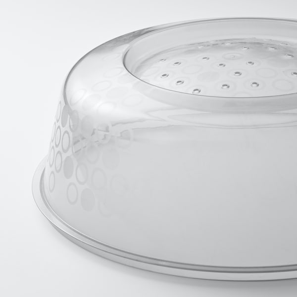 PRICKIG Microwave lid, grey, 26 cm