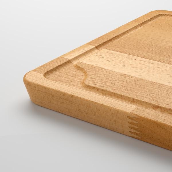 PROPPMÄTT Chopping board, beech, 38x27 cm