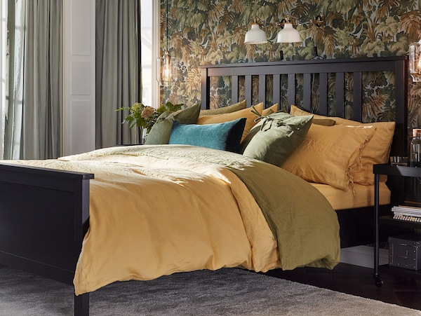 PUDERVIVA quilt cover and 2 pillowcases light yellow 104 /inch² 2 pack 220 cm 240 cm 50 cm 80 cm