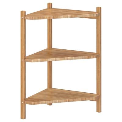 RÅGRUND wash-basin/corner shelf bamboo 34 cm 34 cm 60 cm