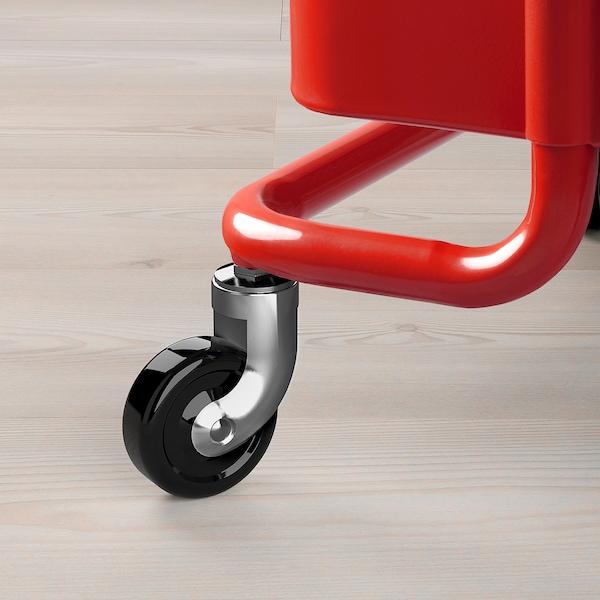 RÅSKOG Trolley, red, 35x45x78 cm