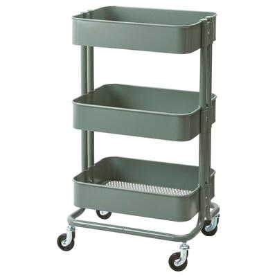RÅSKOG trolley grey-green 6 kg 35 cm 45 cm 78 cm 18 kg