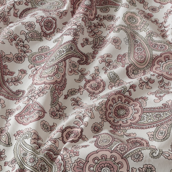 RENBLOMMA Flat sheet and 2 pillowcase, pink, 240x260/50x80 cm
