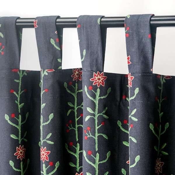 RENREPE Curtains with tie-backs, 1 pair, multicolour, 145x300 cm