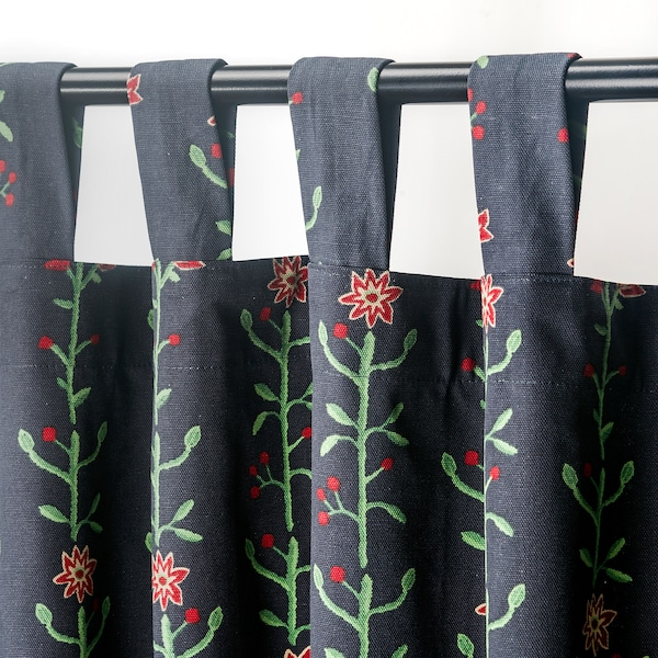 RENREPE Curtains with tie-backs, 1 pair, multicolour, 145x150 cm