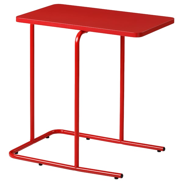 RIAN side table red 50 cm 30 cm 50 cm