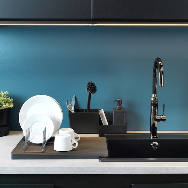 RINNIG kitchen ut rck/plate hldr/dsh drnr