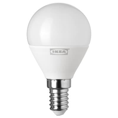 RYET LED bulb E14 400 lumen, globe opal white