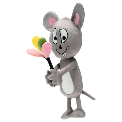 SAGOSKATT soft toy mouse with balloons 34 cm