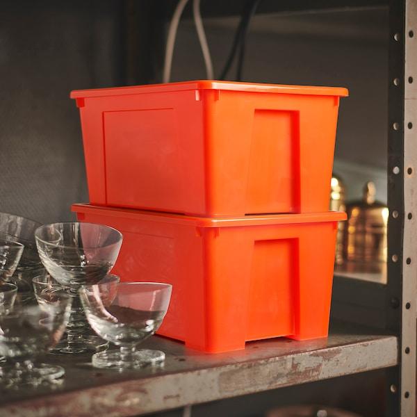 SAMLA Box, orange, 28x19x14 cm/5 l