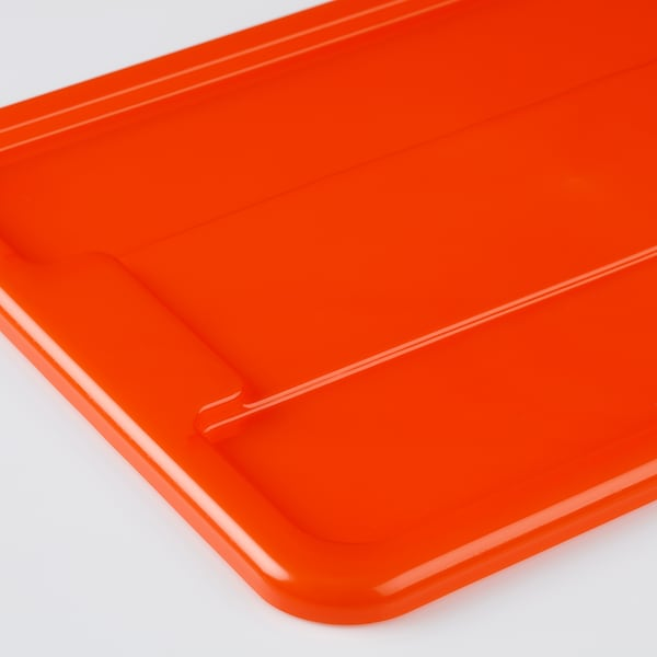 SAMLA Box with lid, orange, 39x28x28 cm/22 l