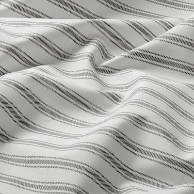 SANDLUPIN Sheet, striped, 240x260 cm